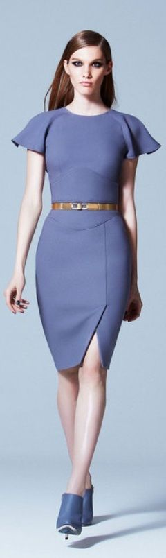 Elie Saab 2013 ~ Beautiful spring color for the office. Not too showy.