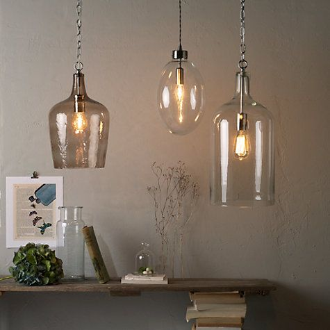 Buy John Lewis William Bottle Glass Pendant Online at johnlewis.com