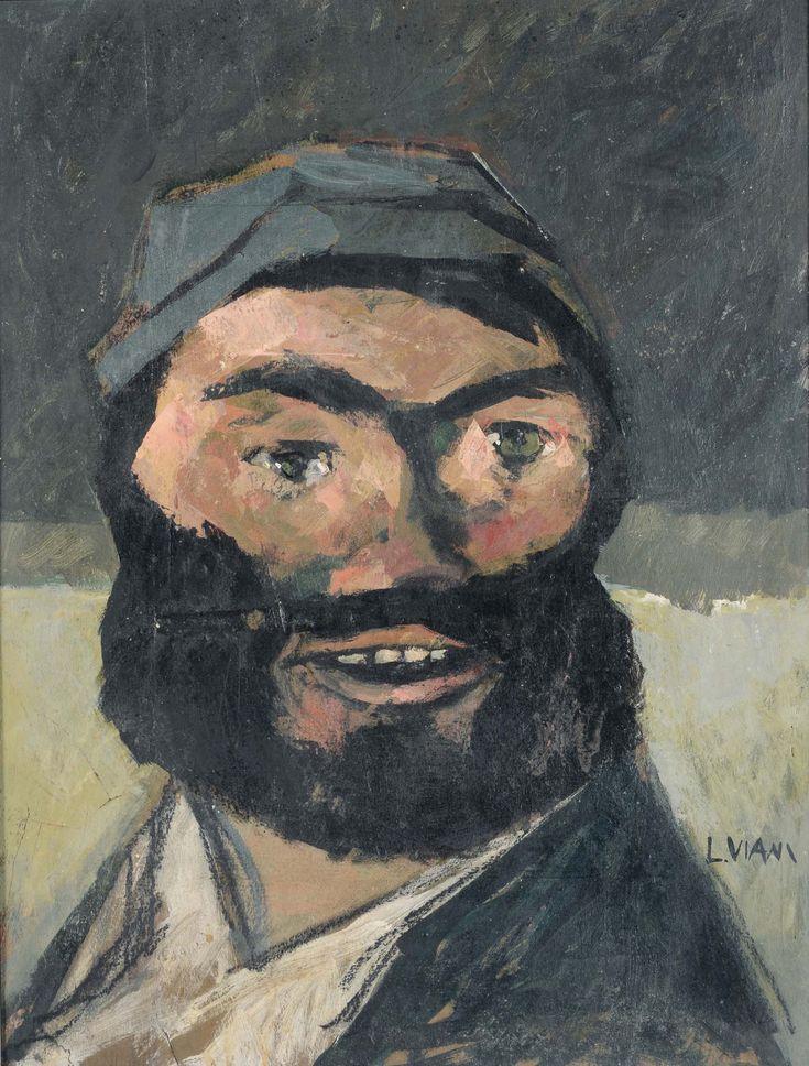 Lorenzo Viani (Italian, 1882-1936), Testa di marinaio [Head of a sailor], 1928. Oil on wood, 49 x 37 cm.