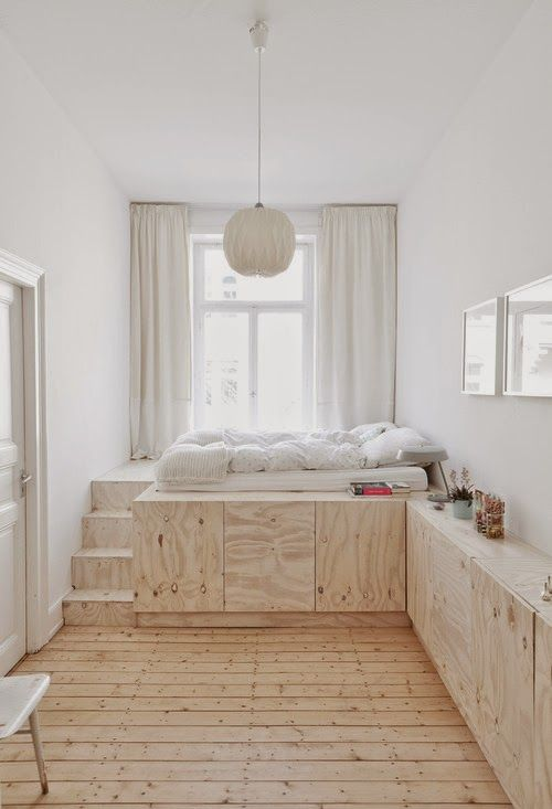 MI RINCÓN DE SUEÑOS: Hacer camas con espacio para almacenar