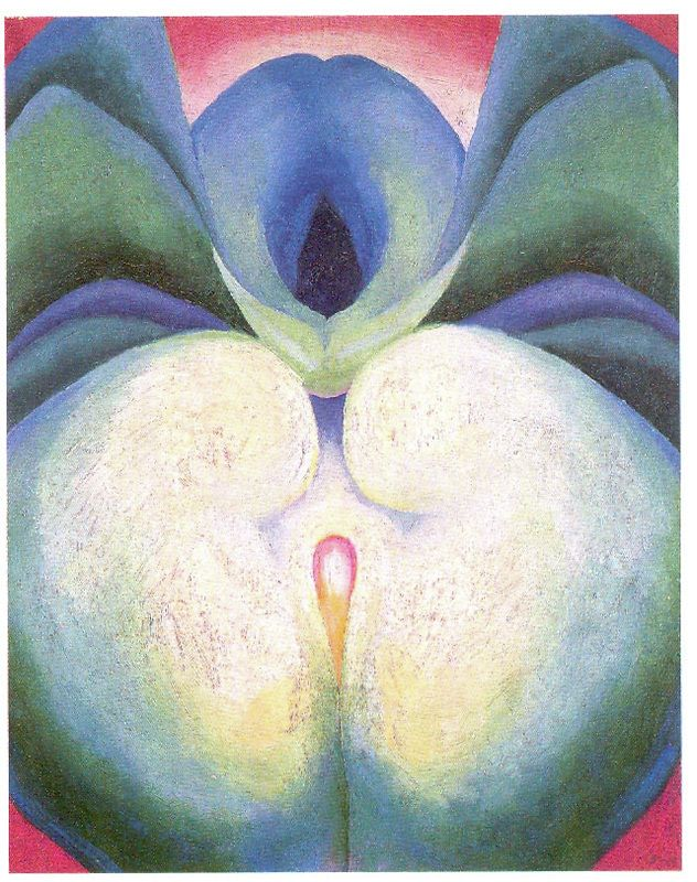 Georgia O Keeffe Series I White And Blue Flower Shapes 1919 Oil On Board 19 7 8 X 15 3 4 Inches Gift Of The Foundation Geor