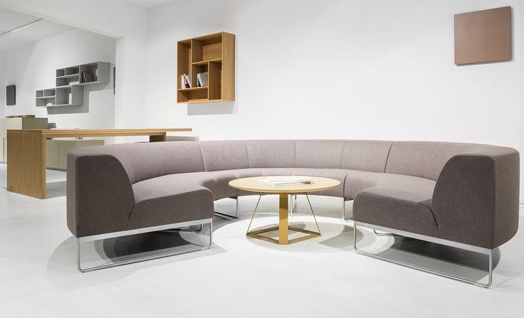 NOTI sofas   MODULAR collection   design by #PiotrKuchcinski #OfficeFurniture #RoundShape #circle #UpholsteredFurniture