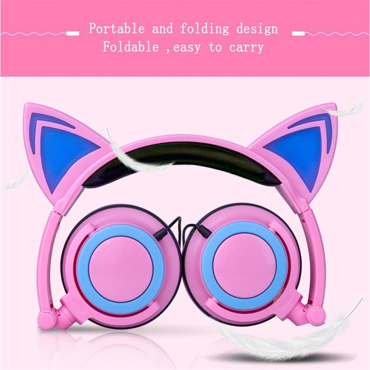 TTLIFE Foldable Flashing Glowing cat ear headphones Gaming Headset   #Fast #Simple #Games #Console #Now #Easy #Quick   #Accessories #Game #Computer #Gamer #Gaming #Awesome #Gadget #New