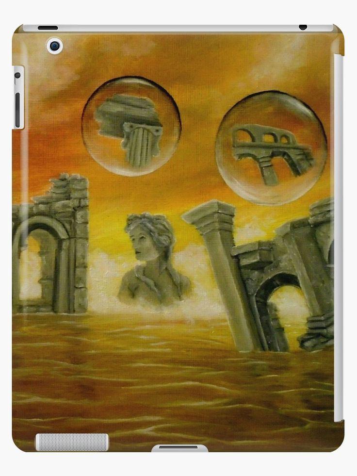 iPad Case/Skin,  temples,monuments,orange,golden,colorful,impressive,fantasy,unique,cool,fancy,beautiful,trendy,artistic,unusual,accessories,ideas,design,items,products,for sale,redbubble