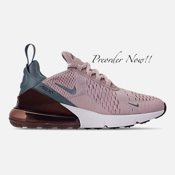 8a24f698761be Swarovski Women's Nike Air Max 270 Pink Rose Sneakers Blinged Out ...