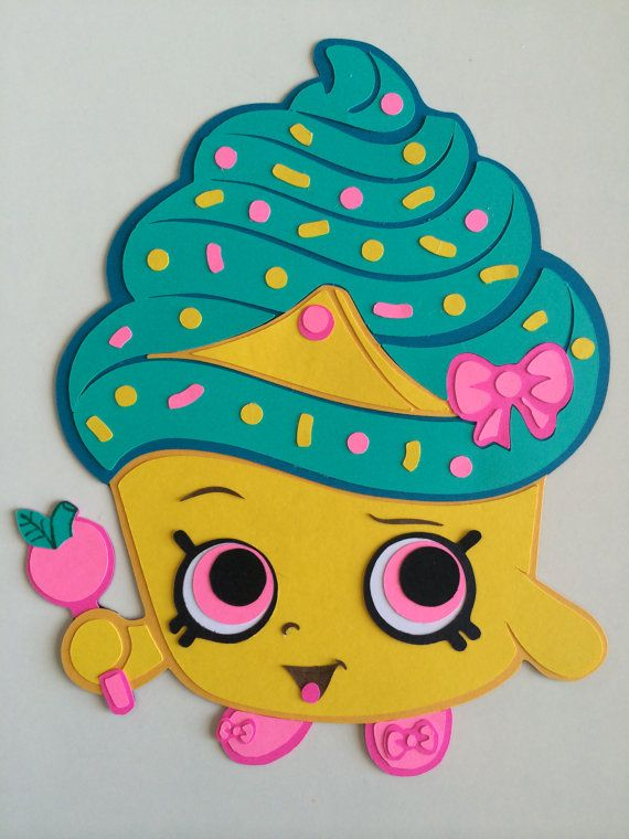 Shopkins Party Decoration - Cupcake Queen - Shopkins Birthday - Shopkins Wall Decor