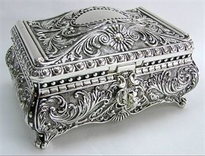 victorian jewelry box. Think about the history of these items!