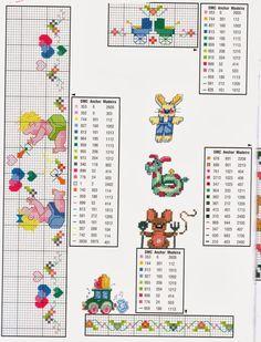 Schemi a punto croce gratuiti per tutti: Tanti schemi punto croce per bambini- lenzuolini e culle