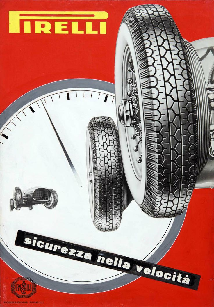 Pavel Michael Engelmann, advertisement for Pirelli tyres, 1954 http://www.fondazionepirelli.org