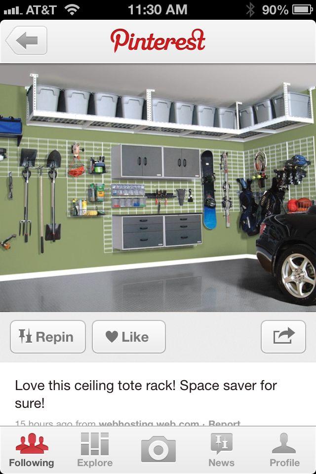 #Garage storage wall