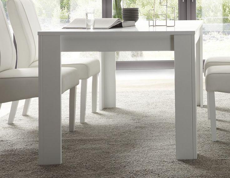 Table extensible blanc laqué design FLAVIA