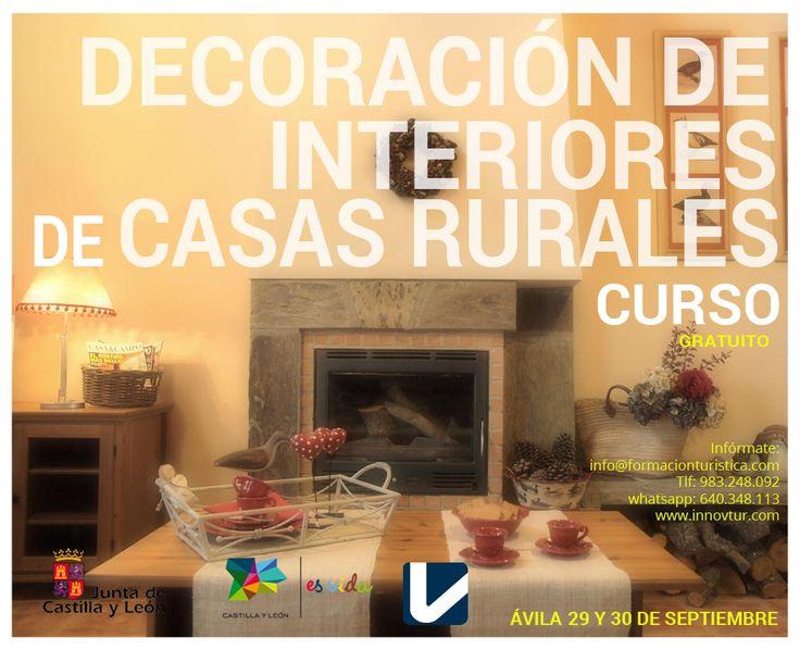 #TurismoRural Decoracion de interiores para Casas Rurales,