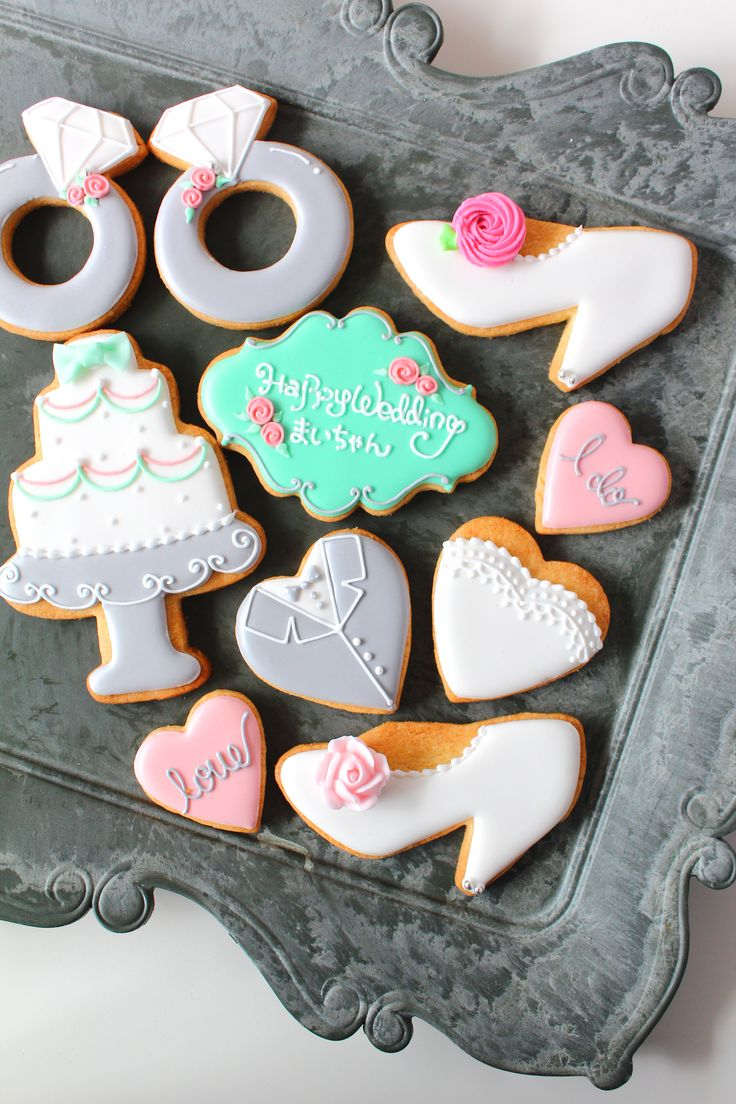 Happy wedding! icing cookies gift