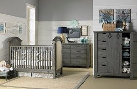 Rustic nursery furniture   Lucca collection in Weathered Grey