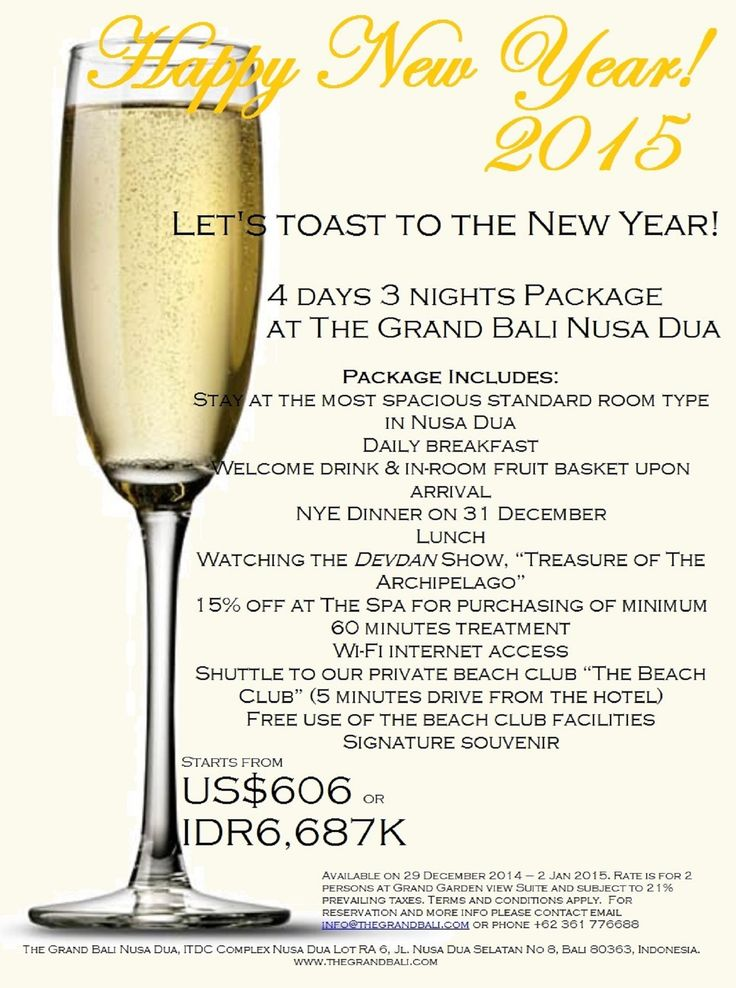 Let's toast to the New Year at The Grand Bali Nusa Dua