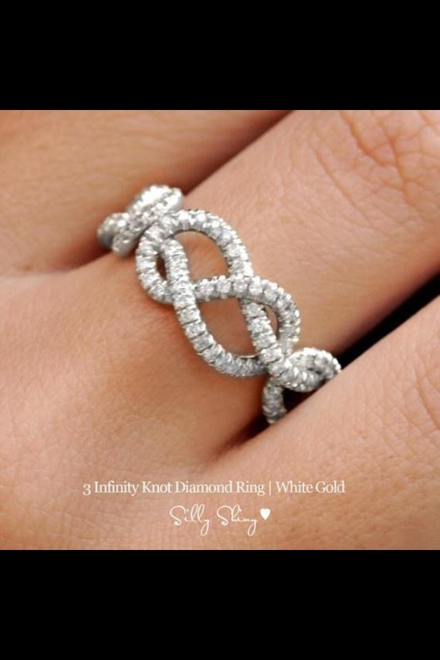 Infinity signs interlocked. Diamonds