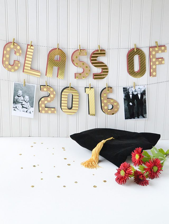 Alphabet Punch Board Graduation Banner by Aly Dosdall for We R Memory Keepers