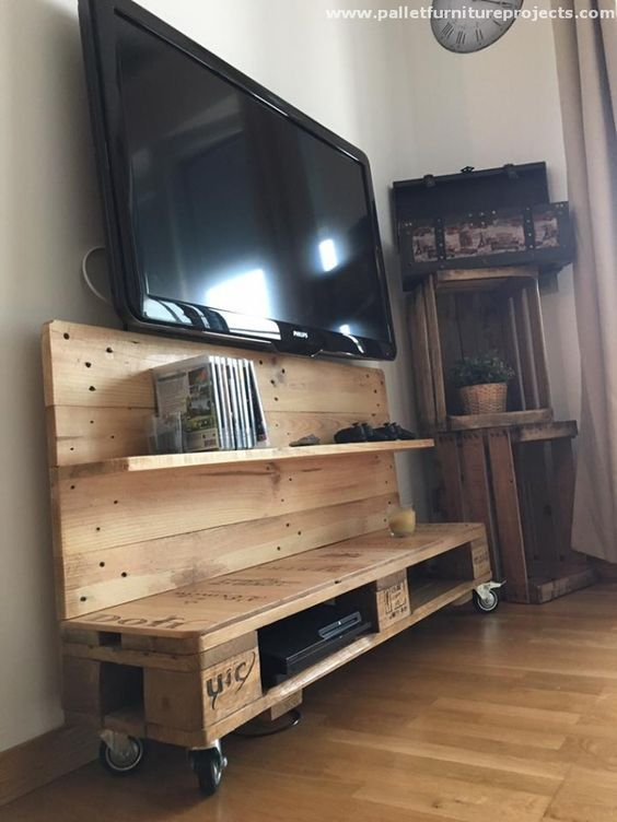 17 best porta tv in legno images on pinterest | at home, pallet tv ... - Mobili Tv Rustici