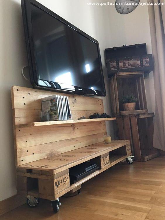 Porta tv con pallet ia44 regardsdefemmes - Porta tv originali ...