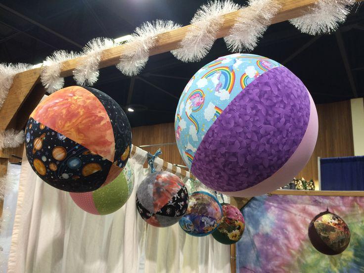 Fabric covered ballon balls, Zoe Vaughn, Dyedreams