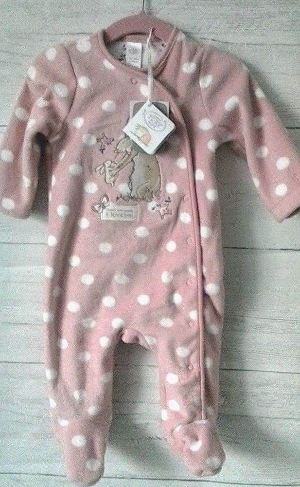 ced0ce44329d Guess How Much I Love You Baby Girls Fleece Sleepsuit 3-6 months ...