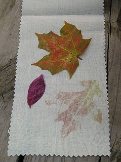 Leaf Pounding...perfect activity for some children! I cannot wait to try this! I think my boy will love this!