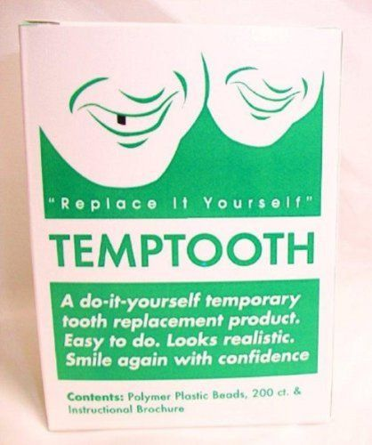 Temptooth Do It Yourself Tooth Replacement Product Temptooth,http://www.amazon.com/dp/B00641RE7G/ref=cm_sw_r_pi_dp_F3nDtb1MCTXF1EKB