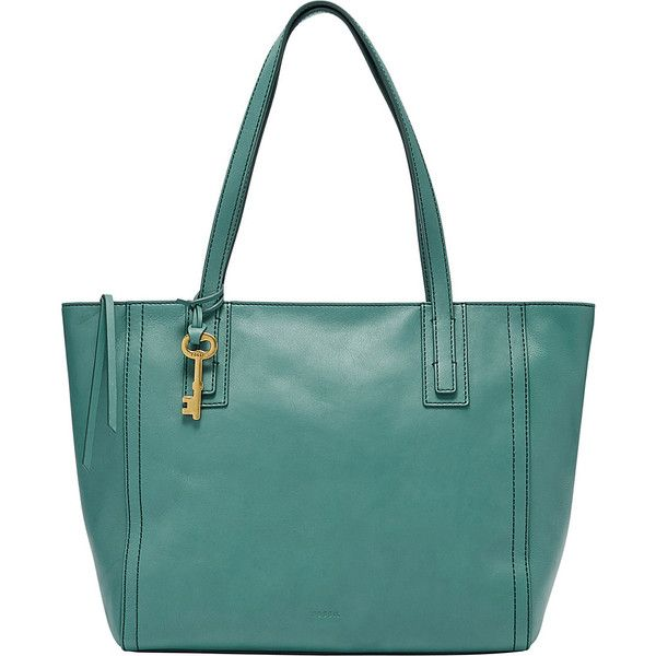 Fossil Emma Tote - Teal Green - Totes ($198) ❤ liked on Polyvore featuring bags, handbags, tote bags, green, tote handbags, green tote, green tote bag, teal handbag and green handbags