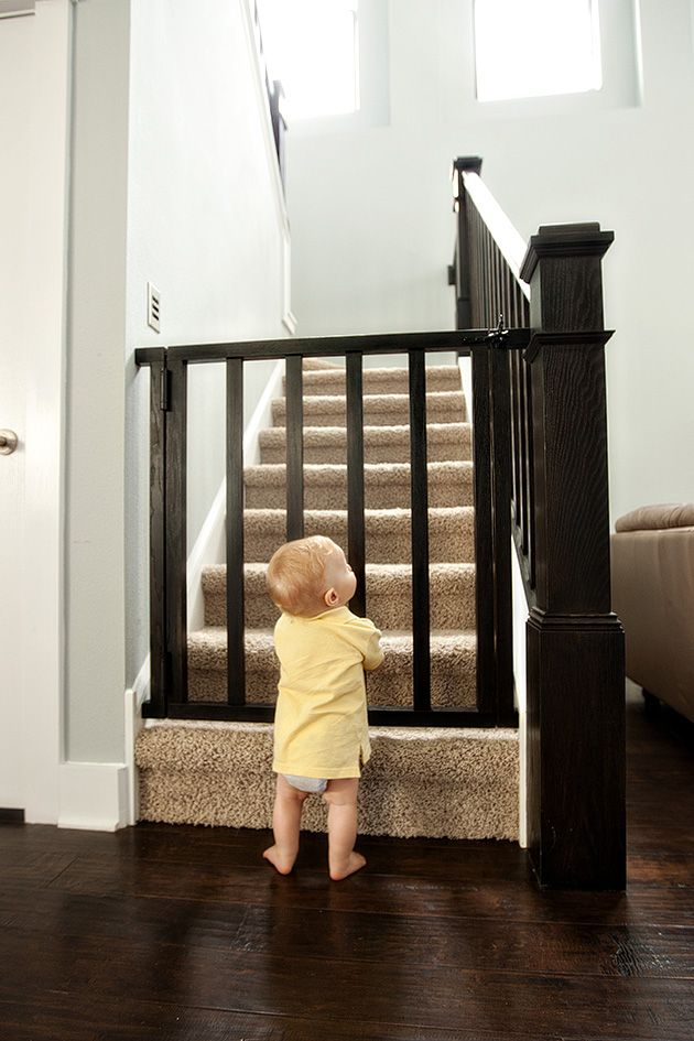another homemade baby gate This is amazing those metal gates that are walk through cost some money at least this one is freaking cute! and I am sure itd be cheaper to make!