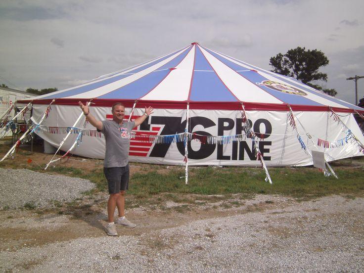 18 oz premium 77' x 101' oval pole tent for big fireworks sale.