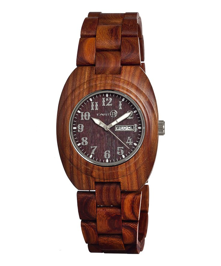 Look what I found on #zulily! EARTH wood watches Red Hilum Wood Bracelet Watch by EARTH wood watches #zulilyfinds