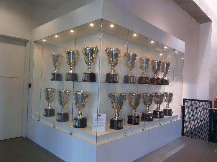 Premiership Cups at Essendon Football Club 2014