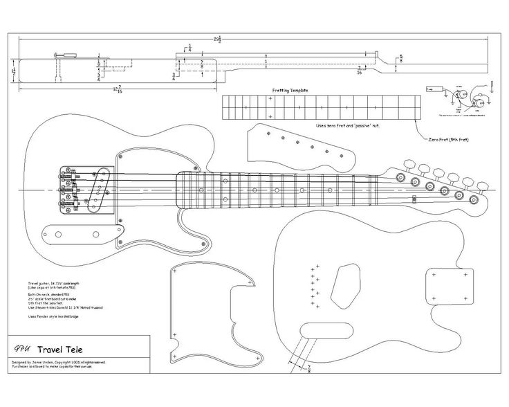 Routing Template for tele body and neck? | Telecaster Guitar Forum ...