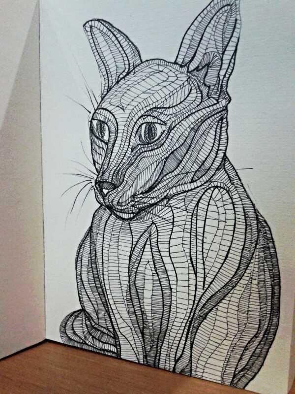 """Ink Sketch - """"Miyuki"""" - 2014"""
