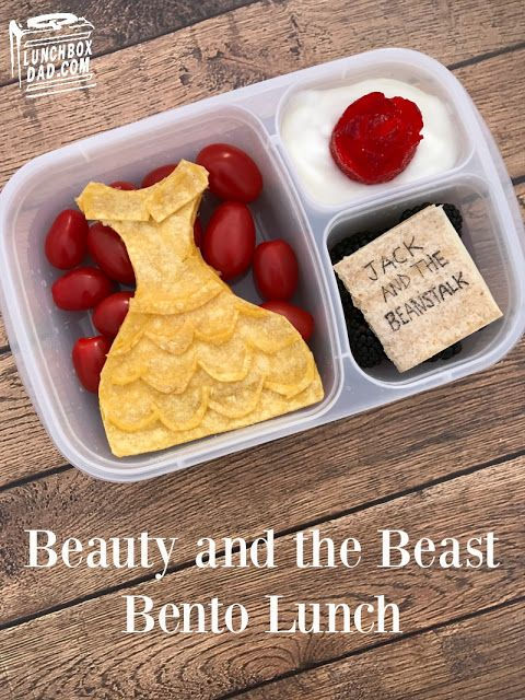 How to make a Disney Beauty and the Beast lunch for your kids!