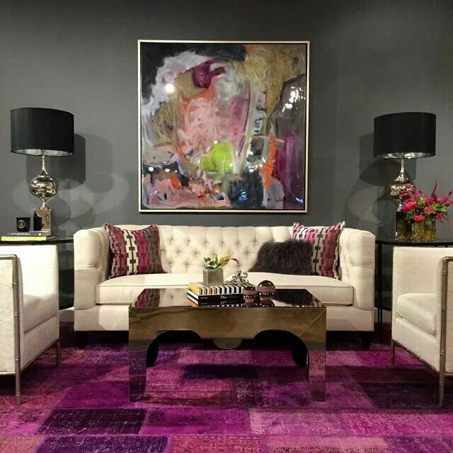 Dope living room  Loving the lamps and rug. 156 best Notable Decor images on Pinterest   Baths  Chicago and