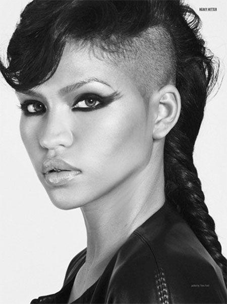 La mitad Afeitado peinados chica para el 2016 //  #2016 #Afeitado #Chica #mitad #para #Peinados