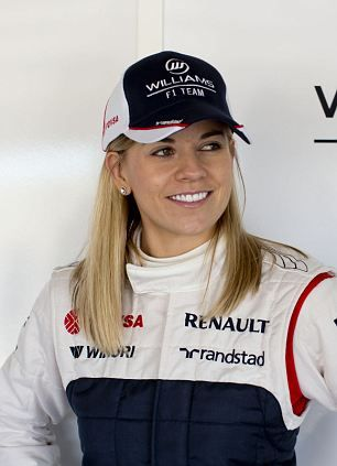 Spot the new Randstad branding on the caps! Susie Wolff