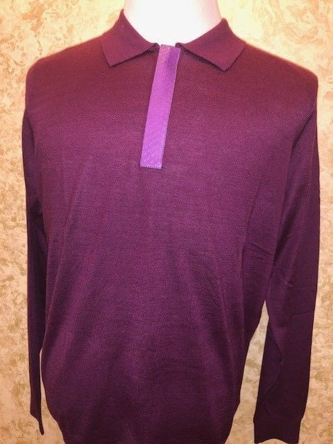 2ac9fc6a0 UMBERTO BILANCIONI RED PYTHON LEATHER TRIM 1/2 ZIP SWEATER SIZE: 52(XL) # fashion #clothing #shoes #accessories #mensclothing #sweaters (ebay link)