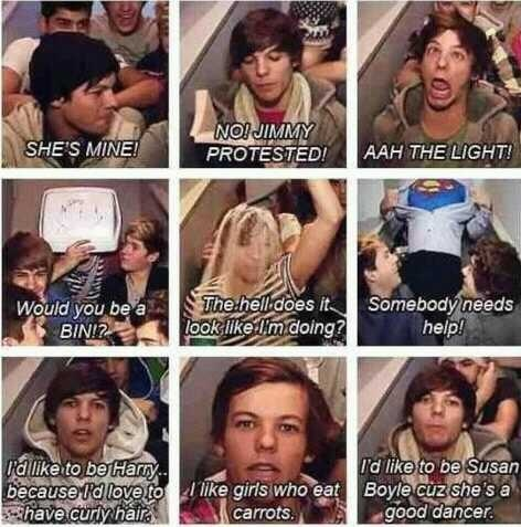 """one direction epic lines - louis tomlinson everybody !! """"Ahh the LIGHT!"""" LOLZ THAT FACE!"""