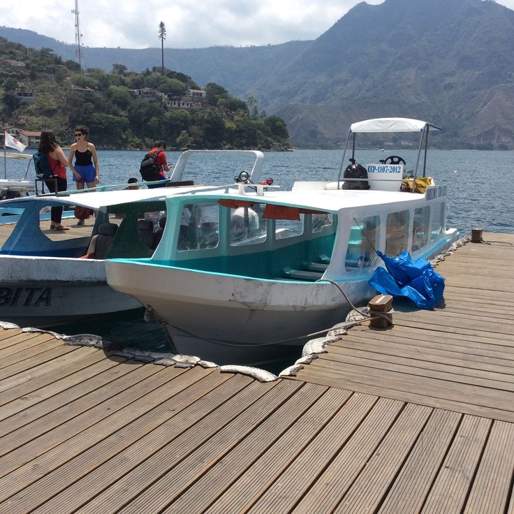 Launchas serve as water taxis to other villages