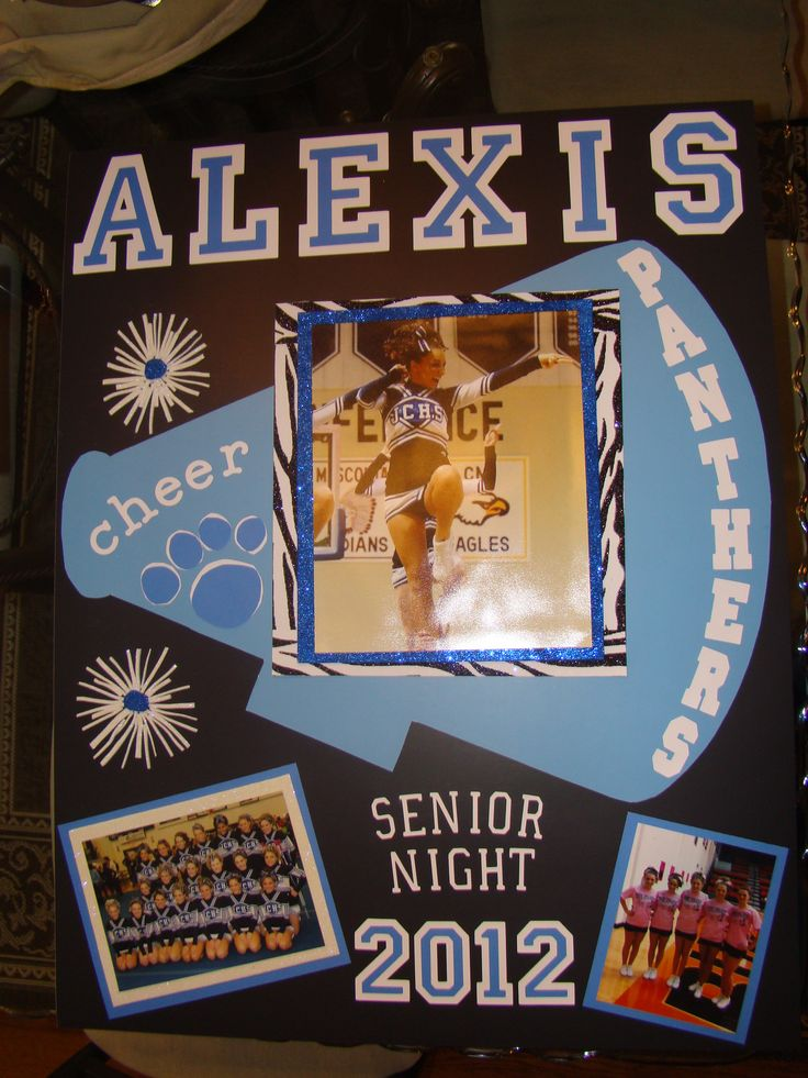 senior night poster! Wanna do this for the eight grade girls at the last home game