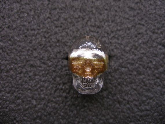 Murano Glass skull ring by GLBriflessi on Etsy, $27.00