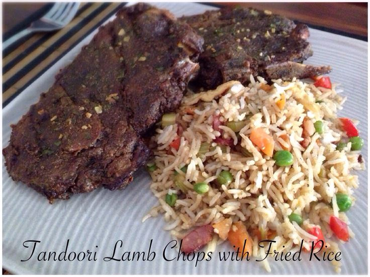 Tandoori Lamb Chops with Fried Rice