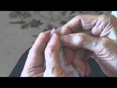 How To Make Armenian Lace Video: in English! Thank you. Tiny knots made with needle and thread