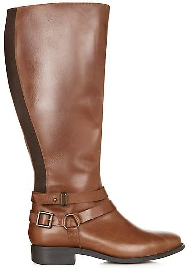 bottes cavaliere en cuir marron a boucles new look chaussures pinterest bijoux et nouveau look. Black Bedroom Furniture Sets. Home Design Ideas
