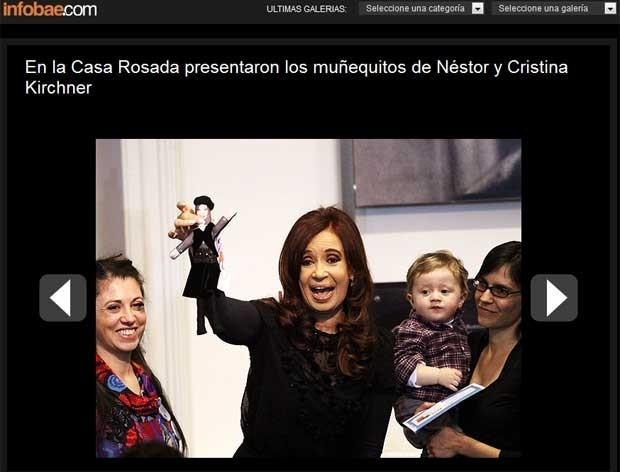 A presidente argentina fez brincadeiras durante o lançamento da boneca Cristinita.
