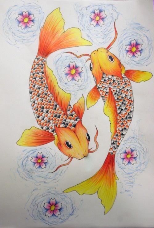 pisces tattoos ideas | tattoo # koi fish # cherry blossoms # pisces