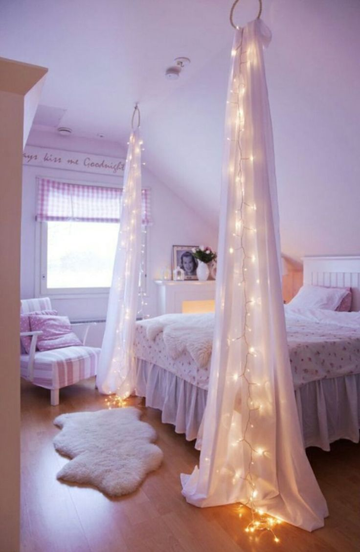 Bed Canopy Diy Best 25 Bed Canopy Lights Ideas On Pinterest Girls Canopy Beds