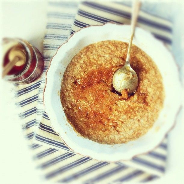 Every day irish steel cut oatmeal with maple sugar